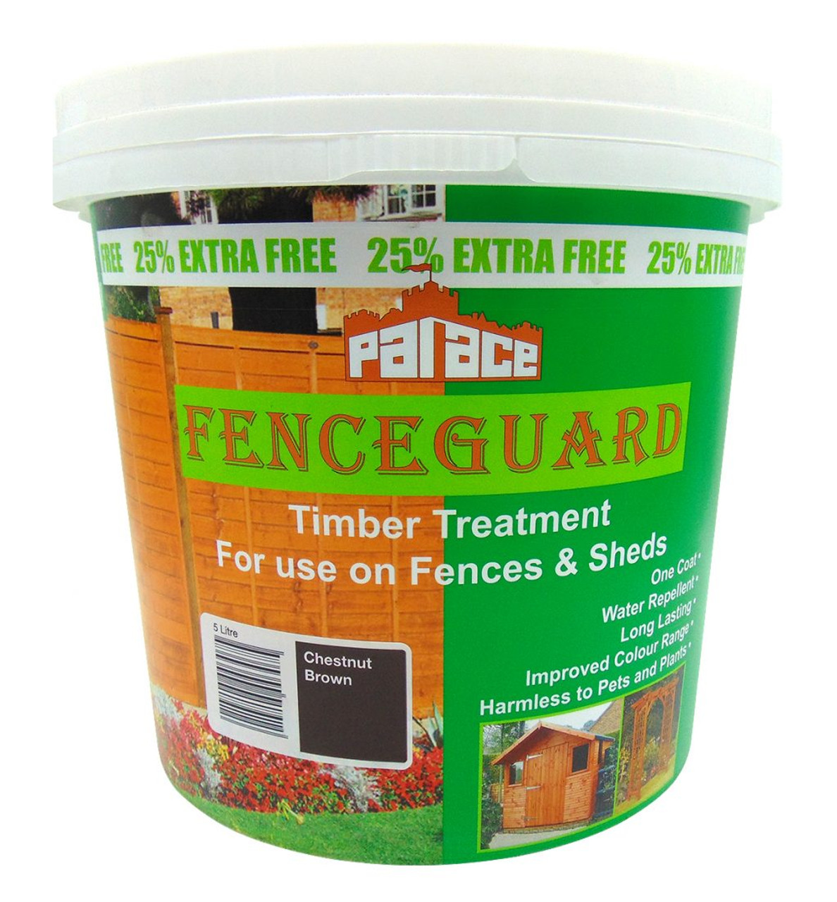 Palace Fenceguard brush-on timber treatment - Chestnut Brown - LOCAL DELIVERY ONLY
