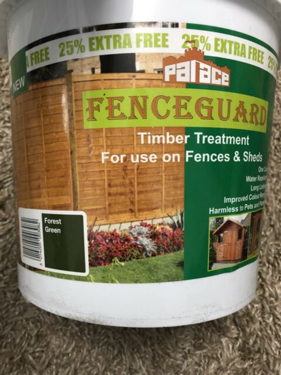 Palace Fenceguard brush-on timber treatment - Forest Green - LOCAL DELIVERY ONLY