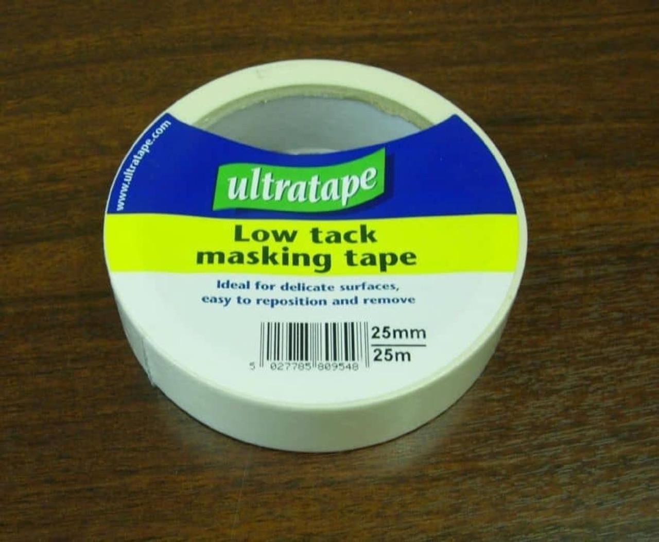 UltraTape 25mm x 25m Low Tack Masking Tape