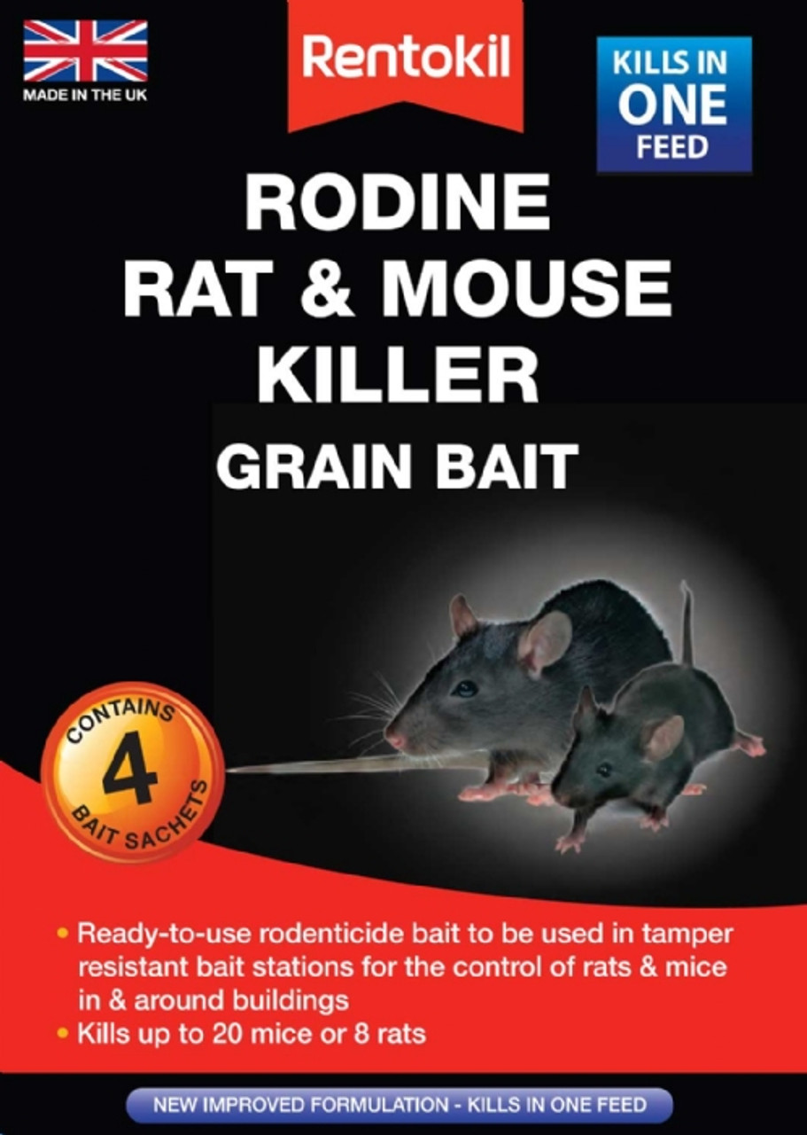 Rodine 4 Sachet Rat & Mouse Killer