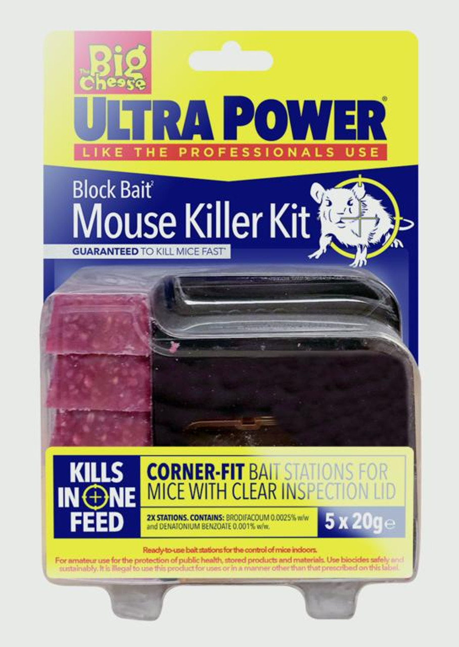 The Big Cheese Ultra Power Block Bait² Mouse Killer Station Refills