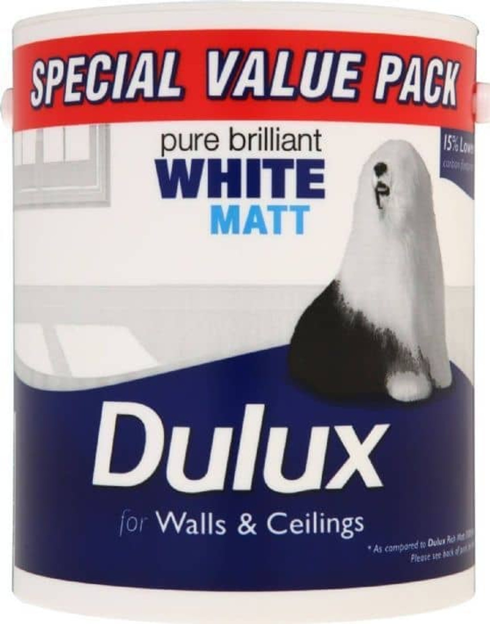 Dulux 3Ltr V/Matt Pure Brilliant White
