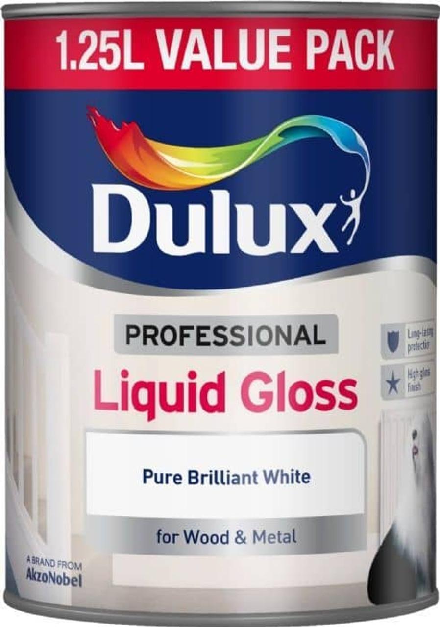 Dulux Professional 1.25ltr Gloss Pure Brilliant White