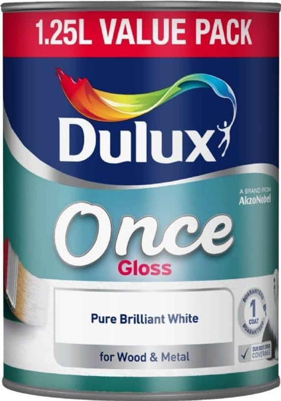 Dulux 1.25ltr Once Gloss PBW - LOCAL DELIVERY ONLY