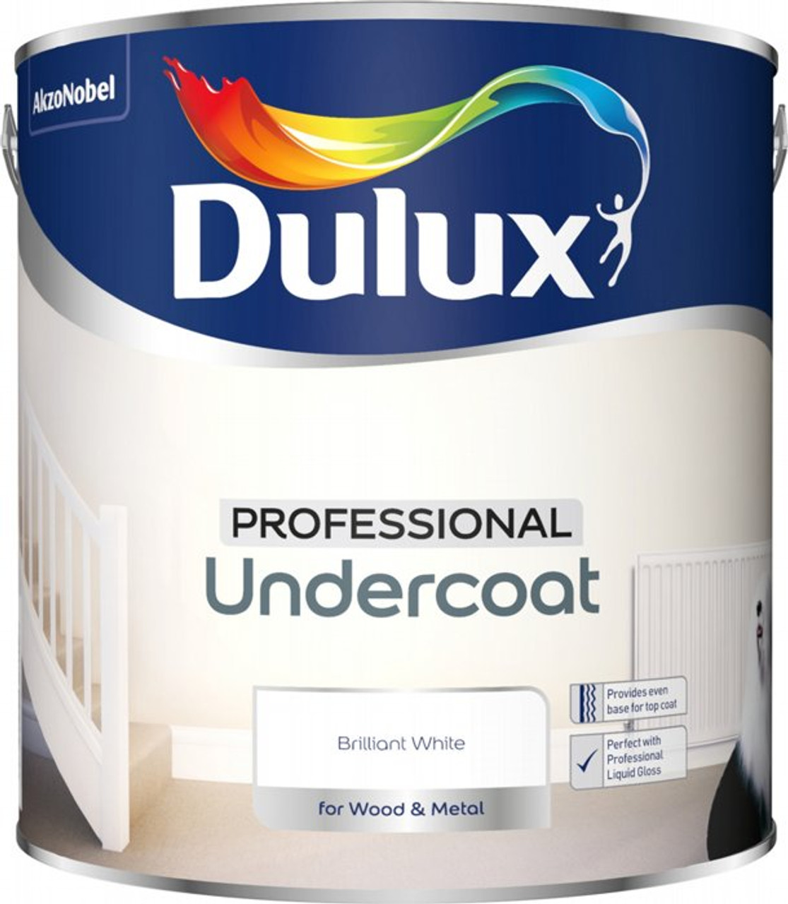 Dulux 2.5Ltr Undercoat Pure Brilliant White