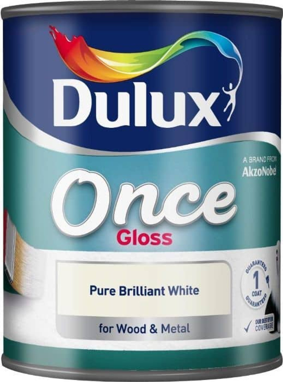Dulux Once 750ml Gloss Pure Brilliant White