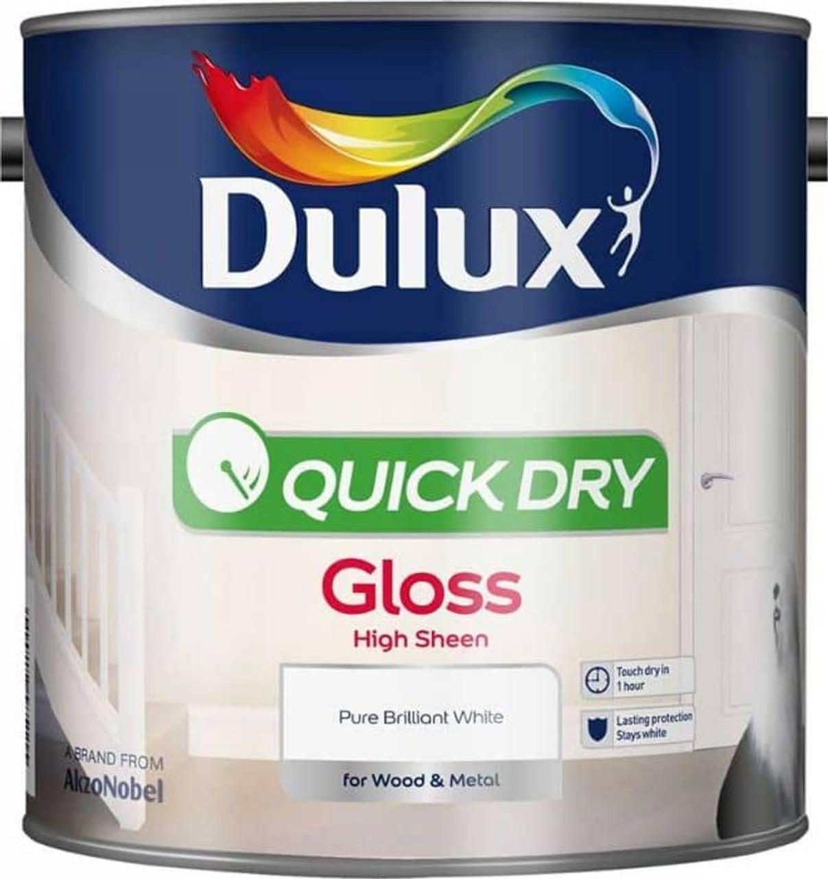 Dulux 2.5ltr Q/D WaterBased Gloss PBW