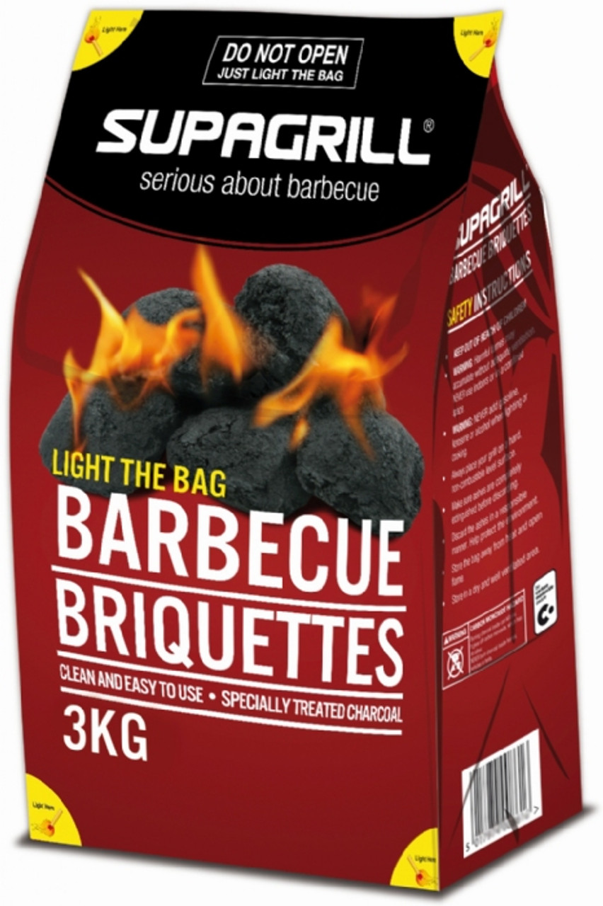 Supagrill 3kg Charcoal Briquettes