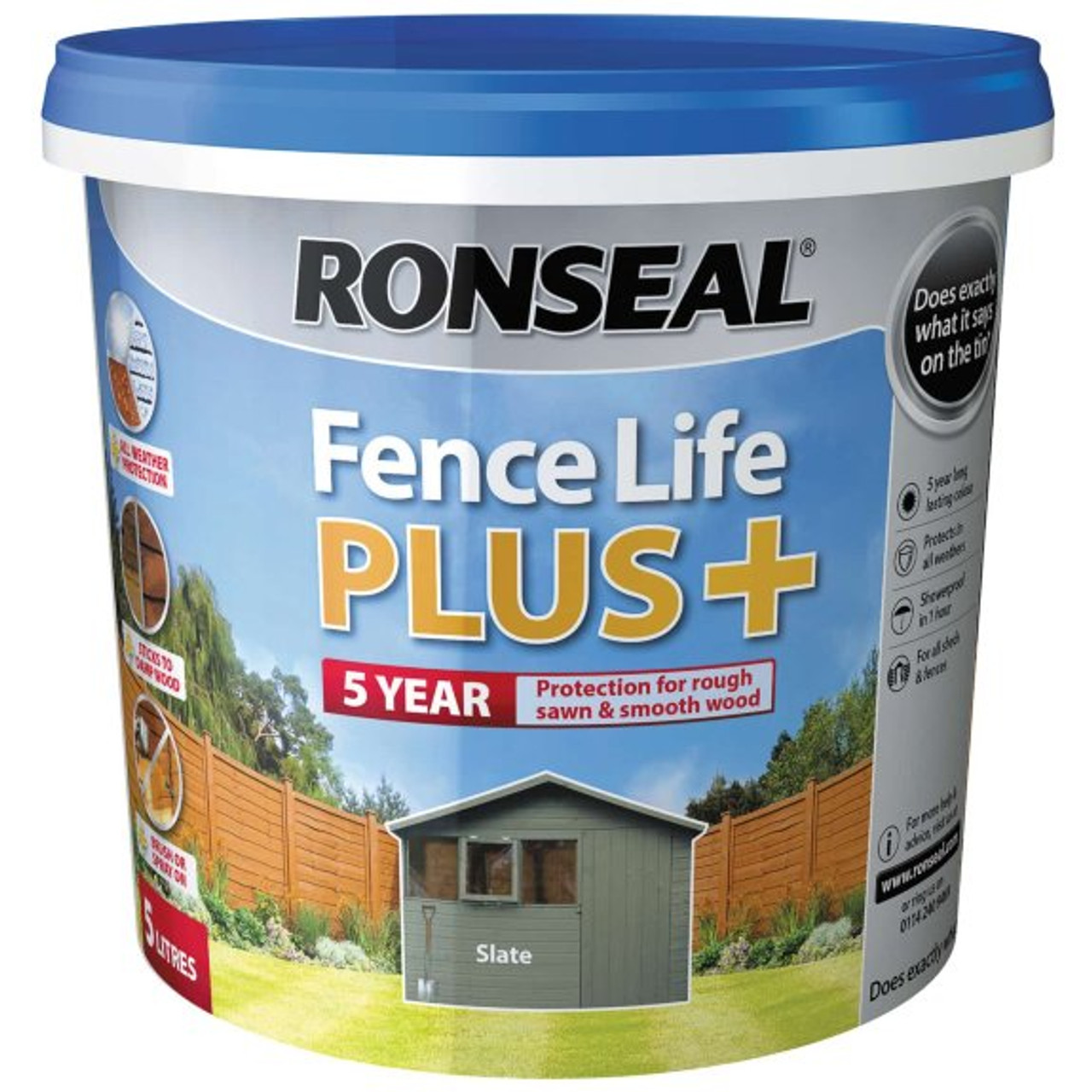 Ronseal Fence Life + 5L - Slate - LOCAL DELIVERY ONLY