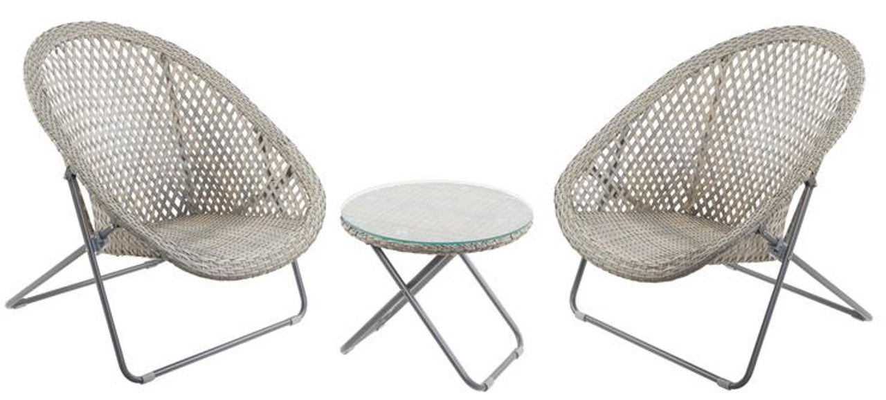 Tobs 3 Piece Garden Set - White - LOCAL DELIVERY ONLY