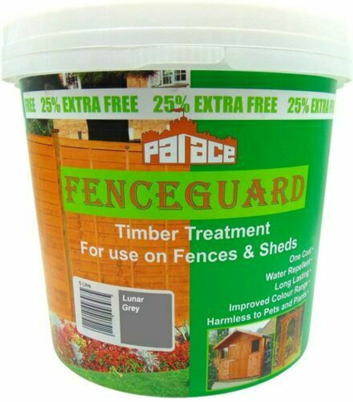 Palace Fenceguard brush on timber treatment - Luna Grey - LOCAL DELIVERY ONLY