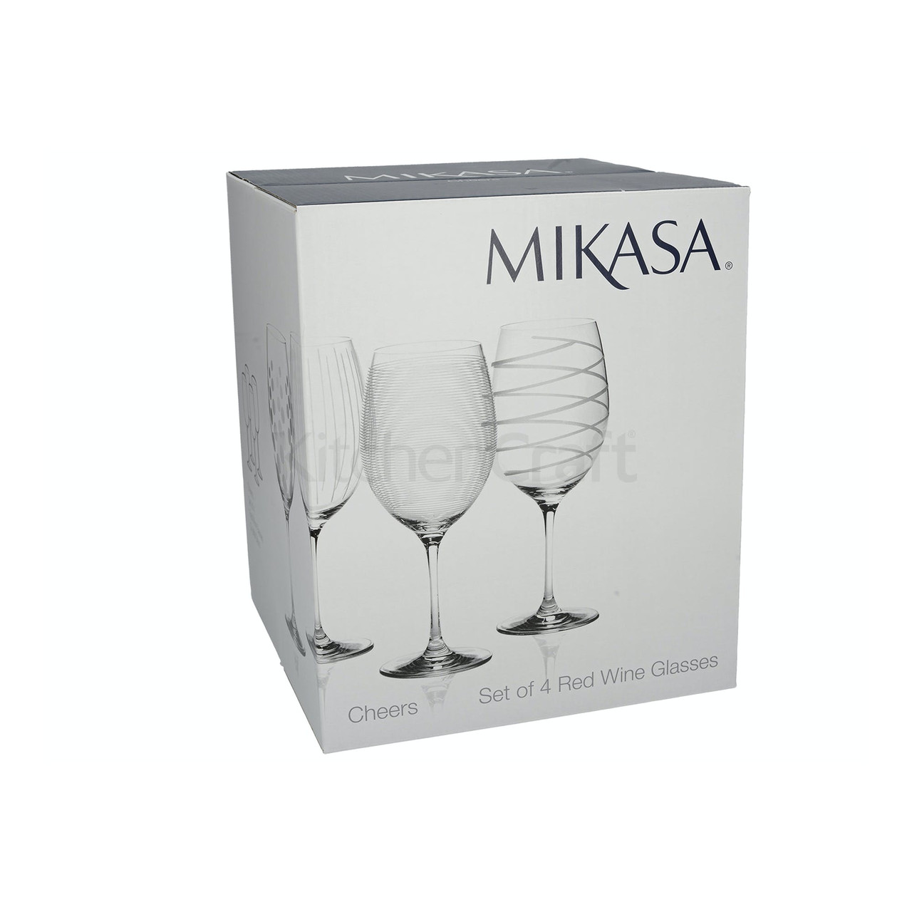 Mikasa Cheers Set Of 4 Red Wine Glasses (LOCAL DELIVERY ONLY)