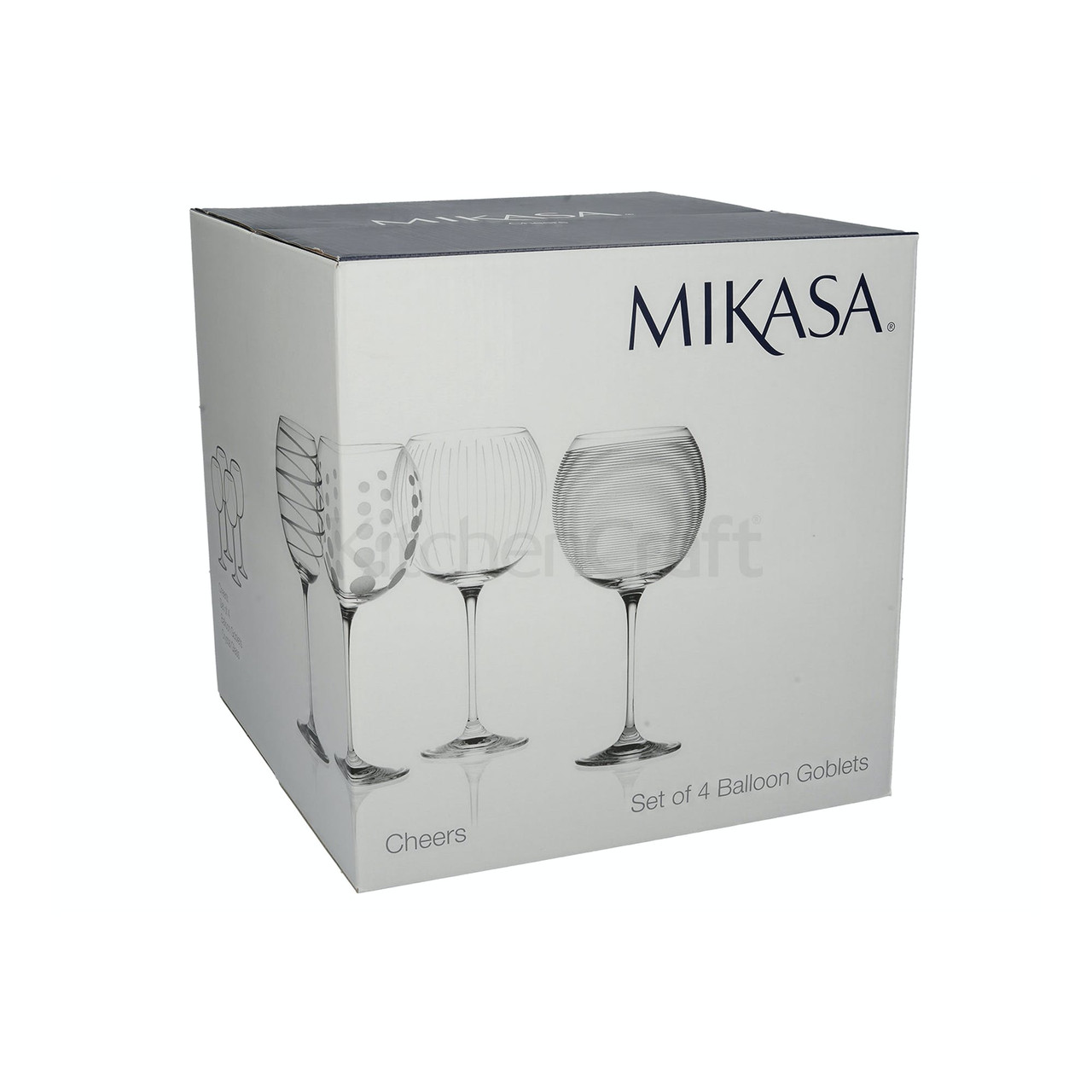 Mikasa Cheers Set Of 4 Gin Glasses (LOCAL DELIVERY ONLY)