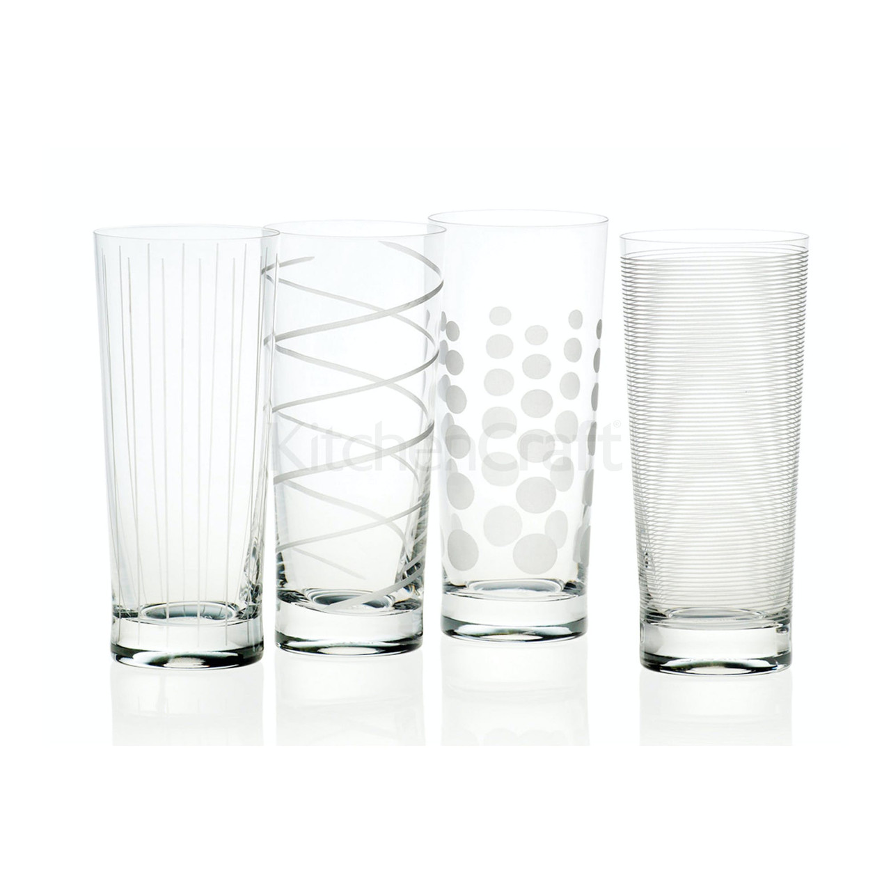 Mikasa Cheers Set Of 4 High Ball Glasses (LOCAL DELIVERY ONLY)