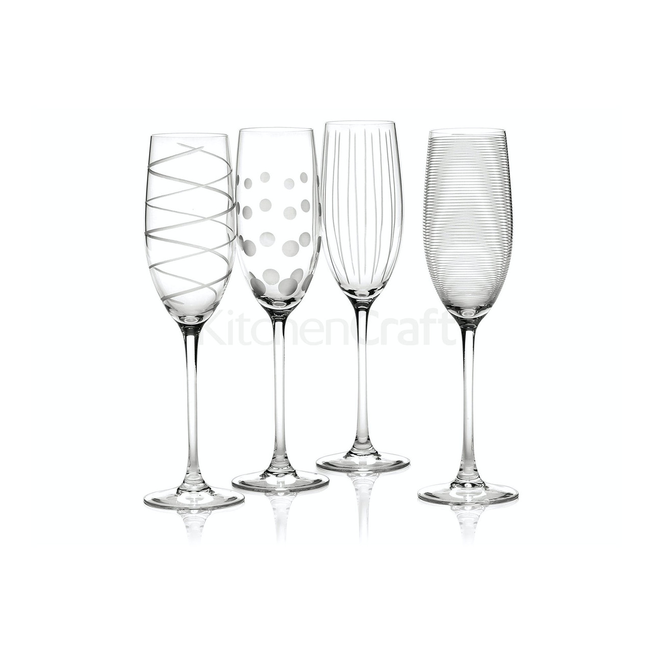 Mikasa Cheers Set Of 4 Flute Glasses (LOCAL DELIVERY ONLY)