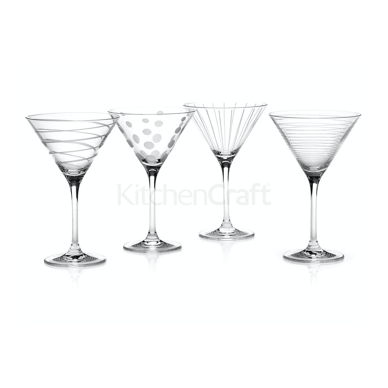 Mikasa Cheers Set Of 4 Martini Glasses (LOCAL DELIVERY ONLY)