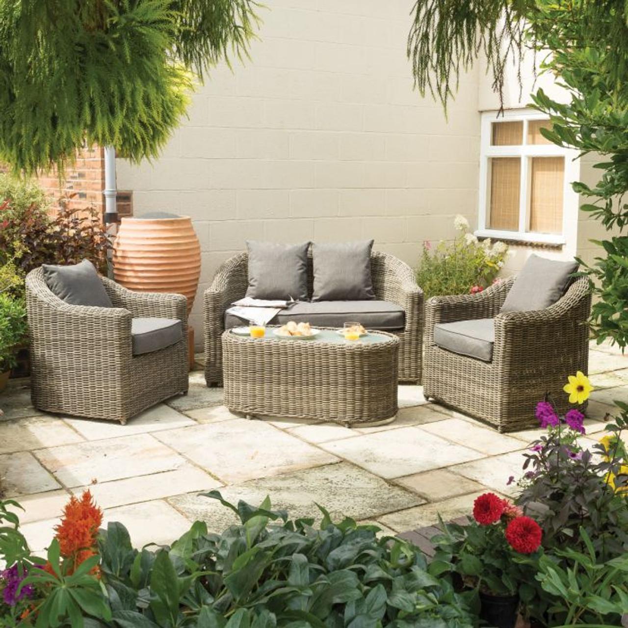 Bunbury Sofa Set – Natural Weave