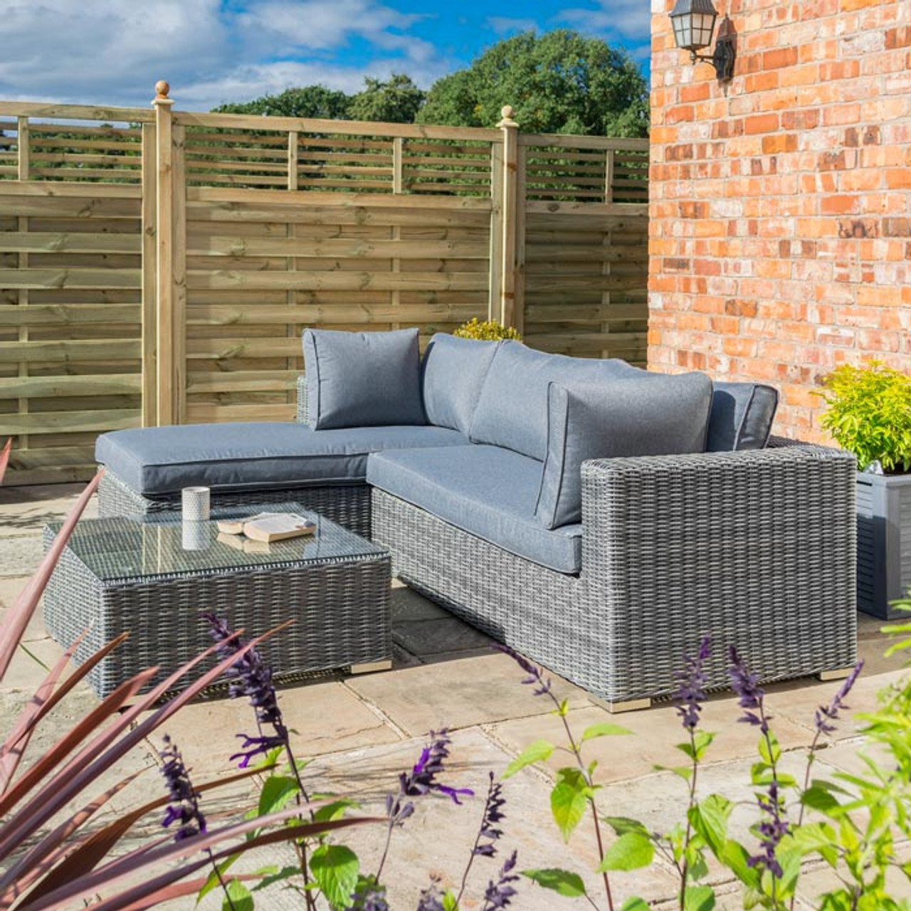 Vienna Lounger Set – Grey Weave - LOCAL DELIVERY ONLY