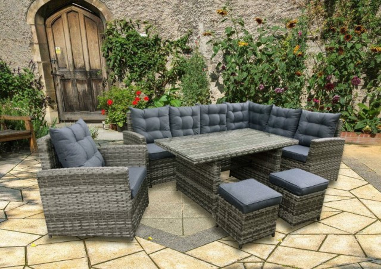 Rowallan 10 Seater Sofa Set - LOCAL DELIVERY ONLY