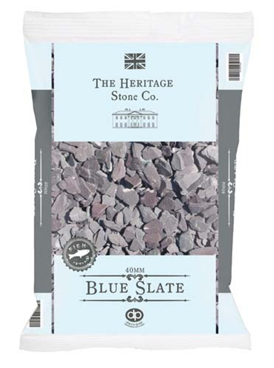 Blue Slate Gravel 40mm  bag-  LOCAL DELIVERY ONLY (3 MILE RADIUS)