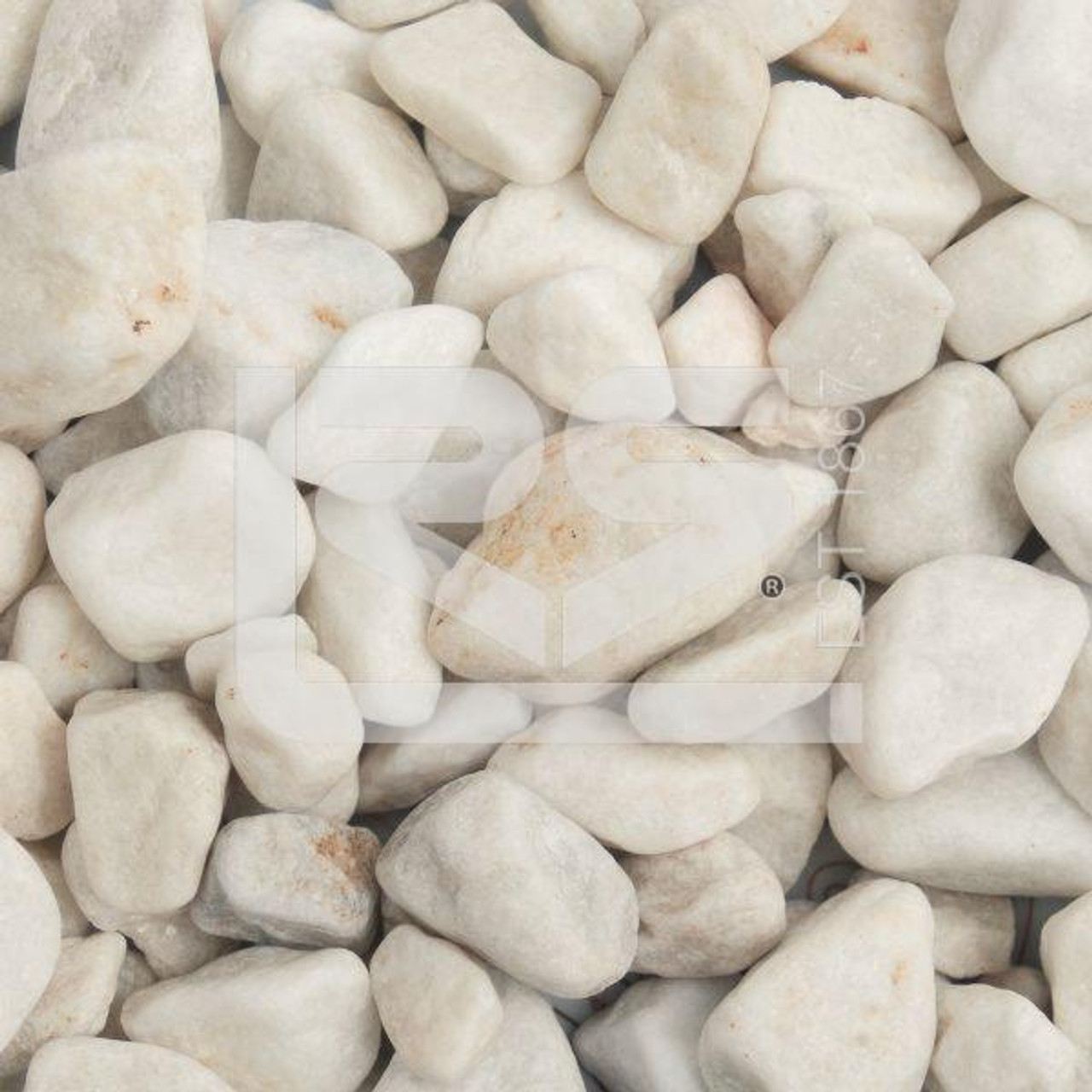 White Pebbles  20- 40mm - LOCAL DELIVERY ONLY