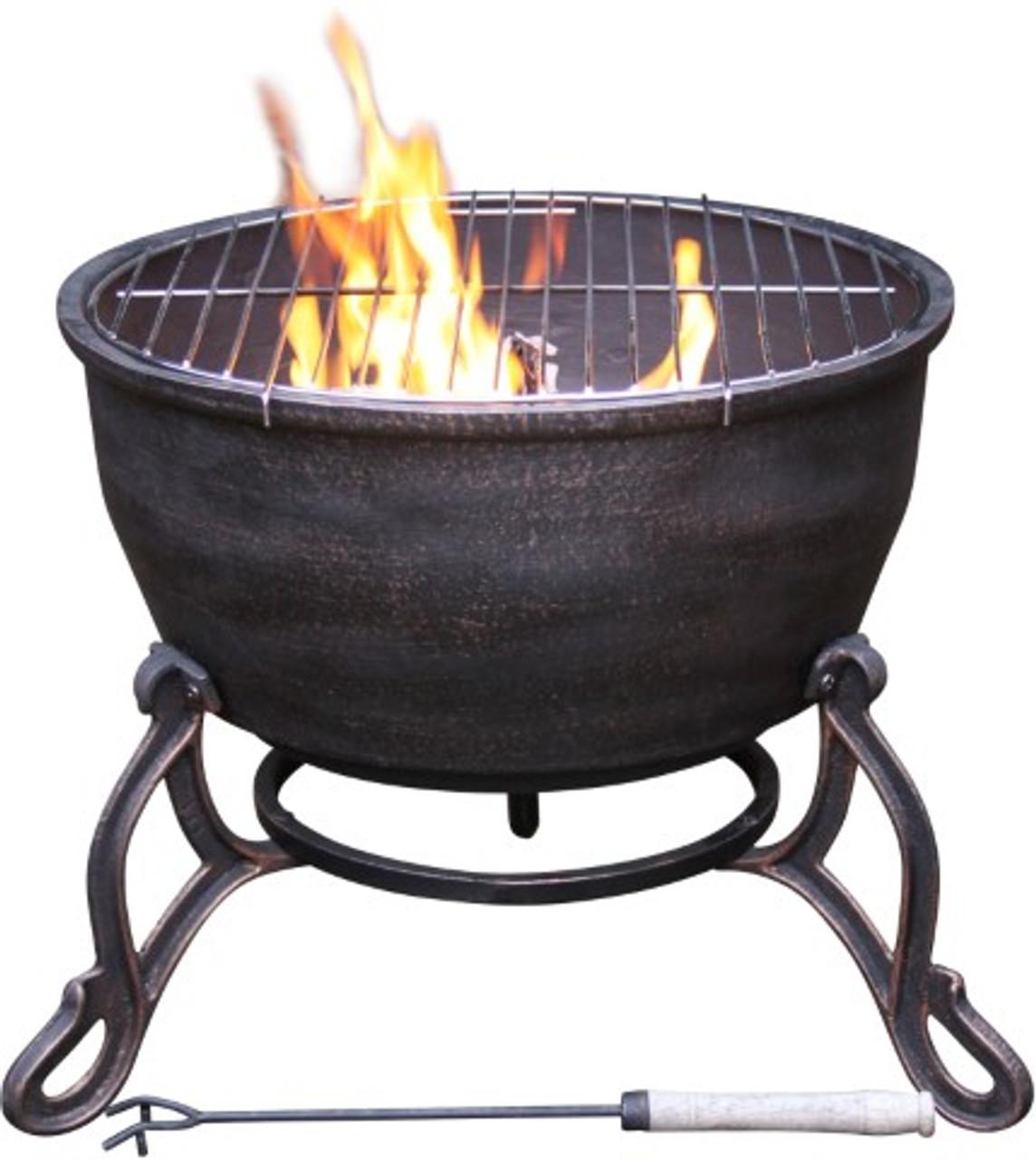 Elidir Cast Iron Fire Bowl