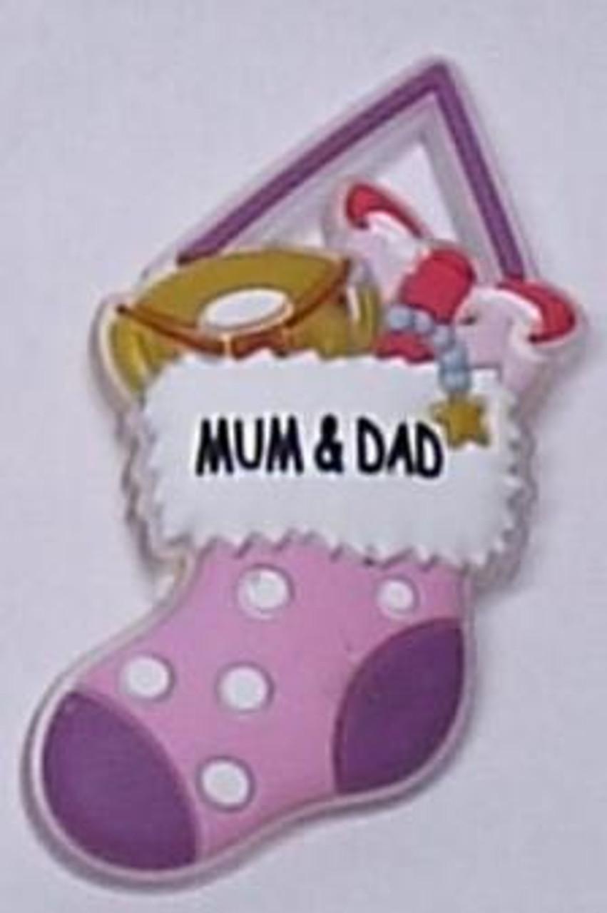 Waiting For Santa - Stocking: Mum & Dad