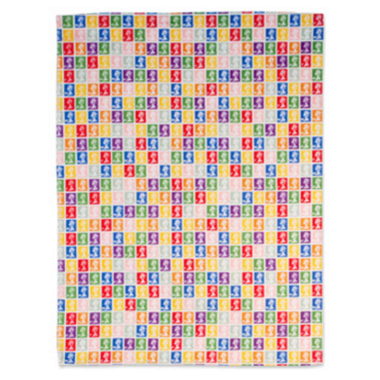 Technicolour Stamp Collection Tea Towel