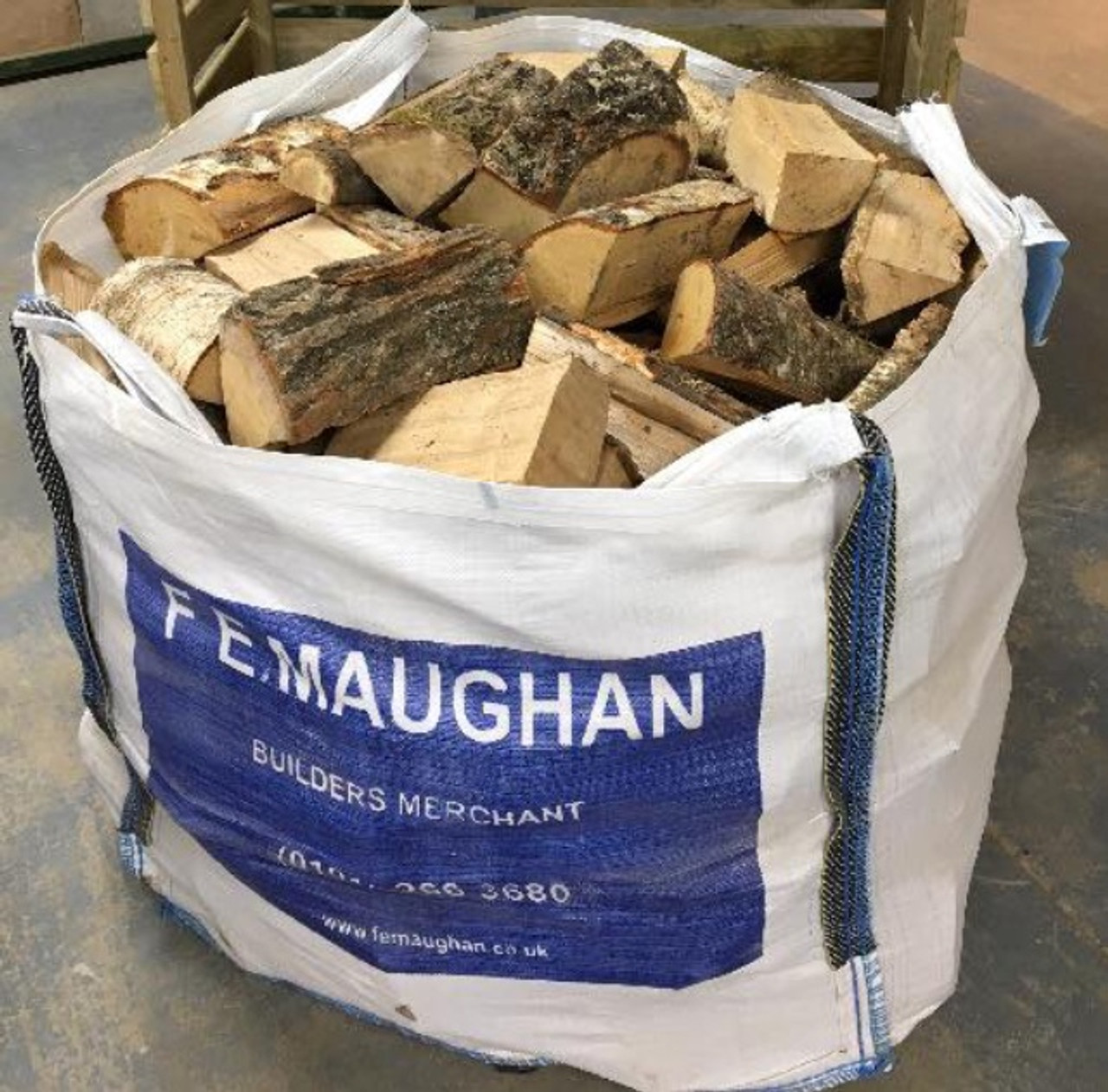 Premium Kiln Dried Hardwood Logs (Dumpy Bag)