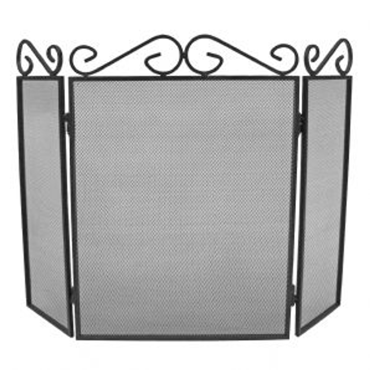 3 Fold Scroll Top Fireguard Black