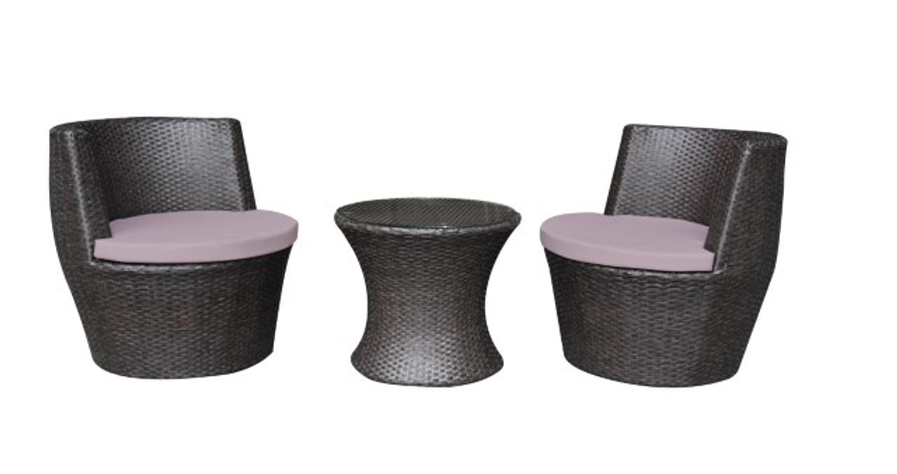 Santorini Rattan Effect Vase Bistro Set