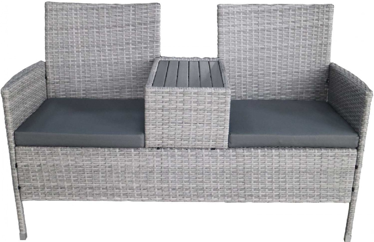Rattan Companion Bench - LOCAL DELIVERY ONLY