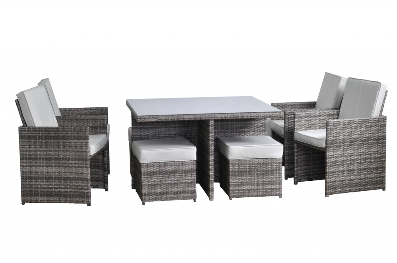 Toulouse 4 Seat Cube Set