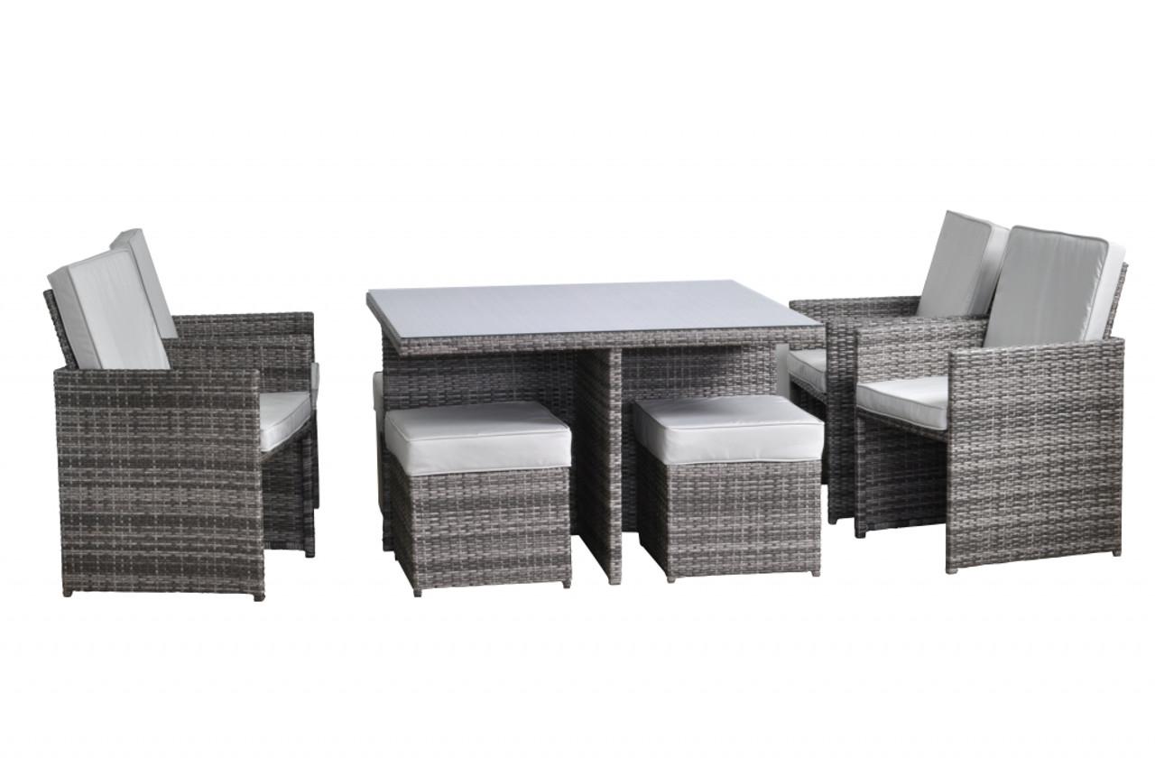 Toulouse 4 Seat Cube Set