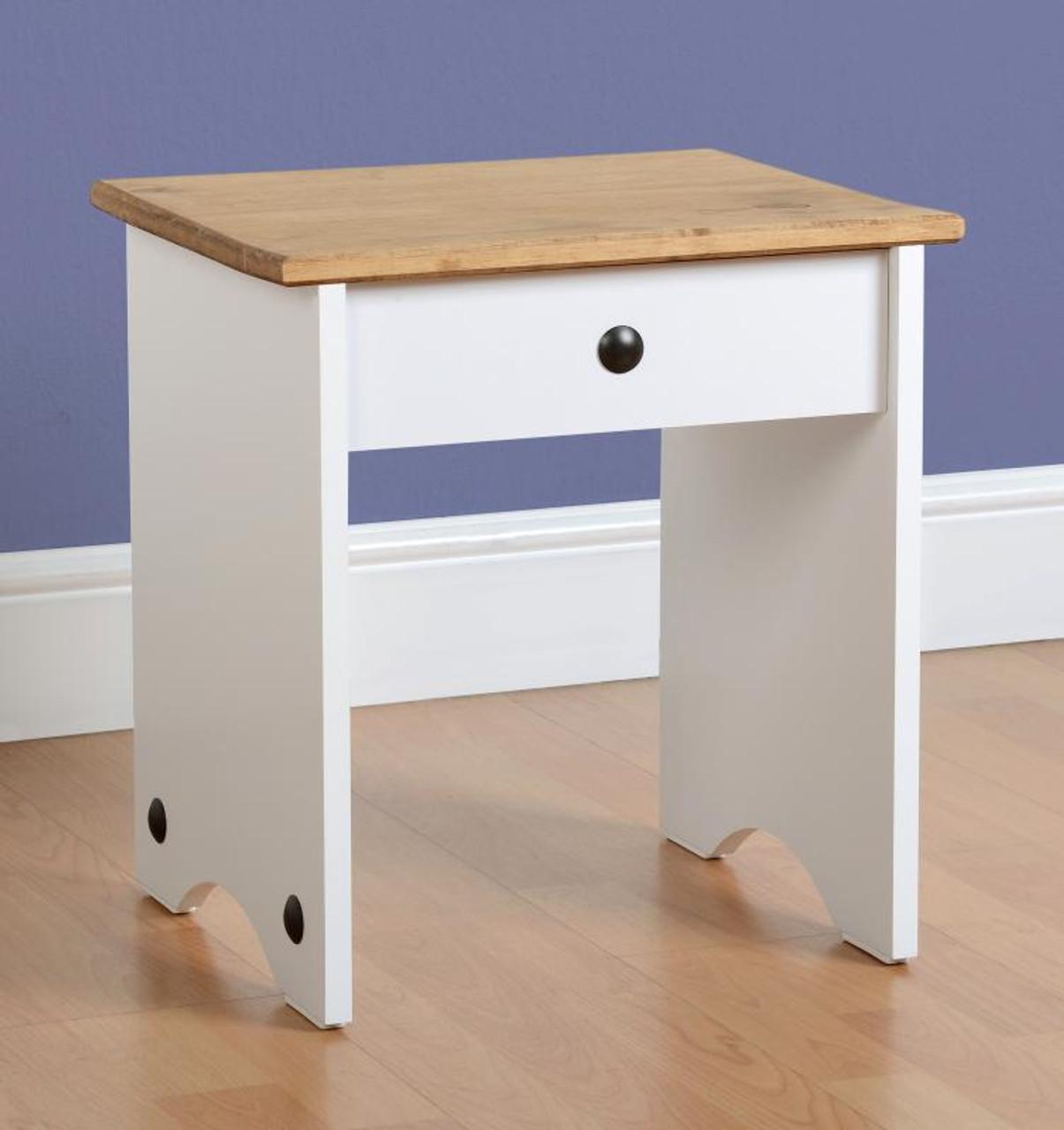 Corona Dressing Table Stool White