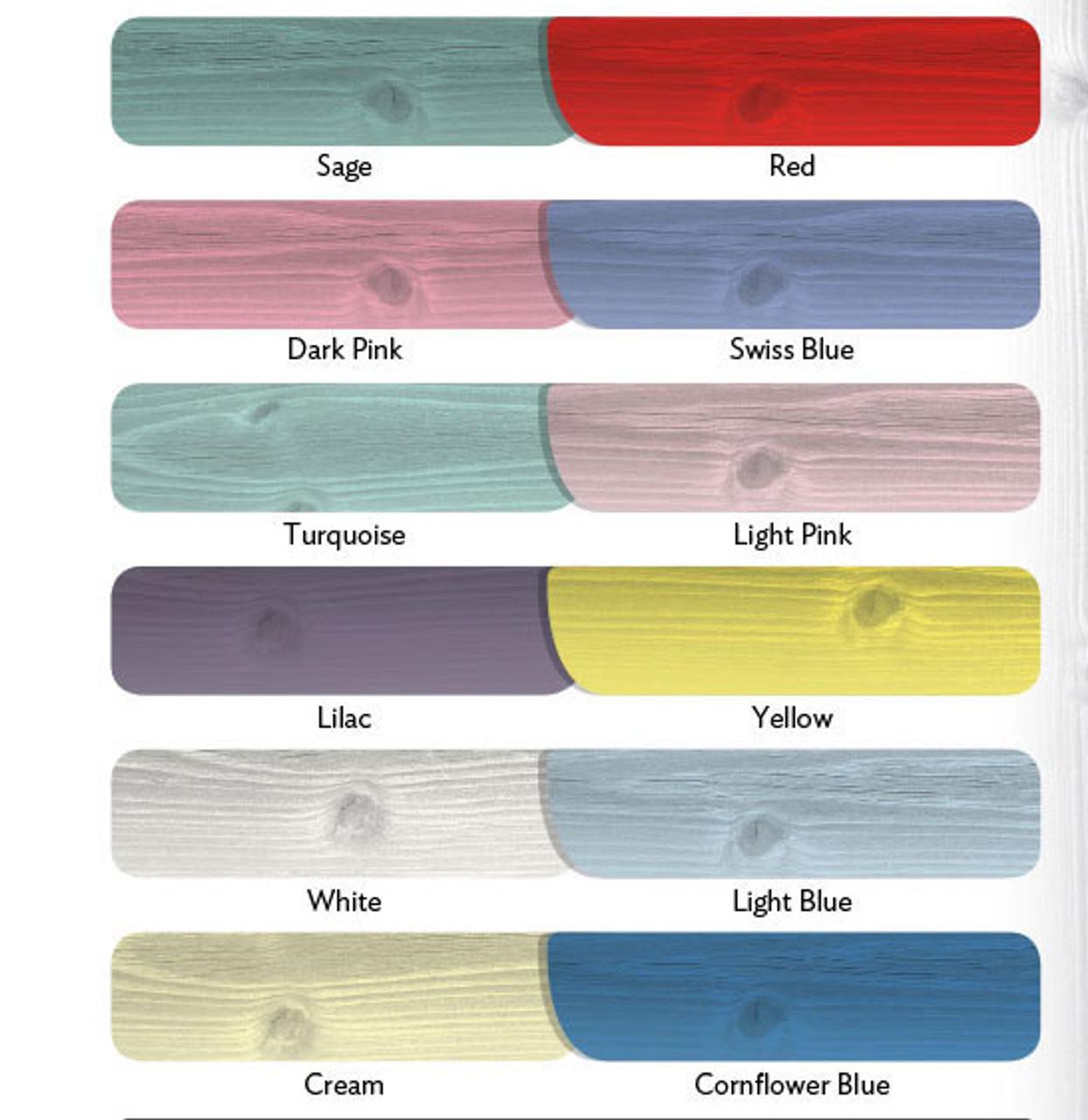 shedlands supreme pent shed colours