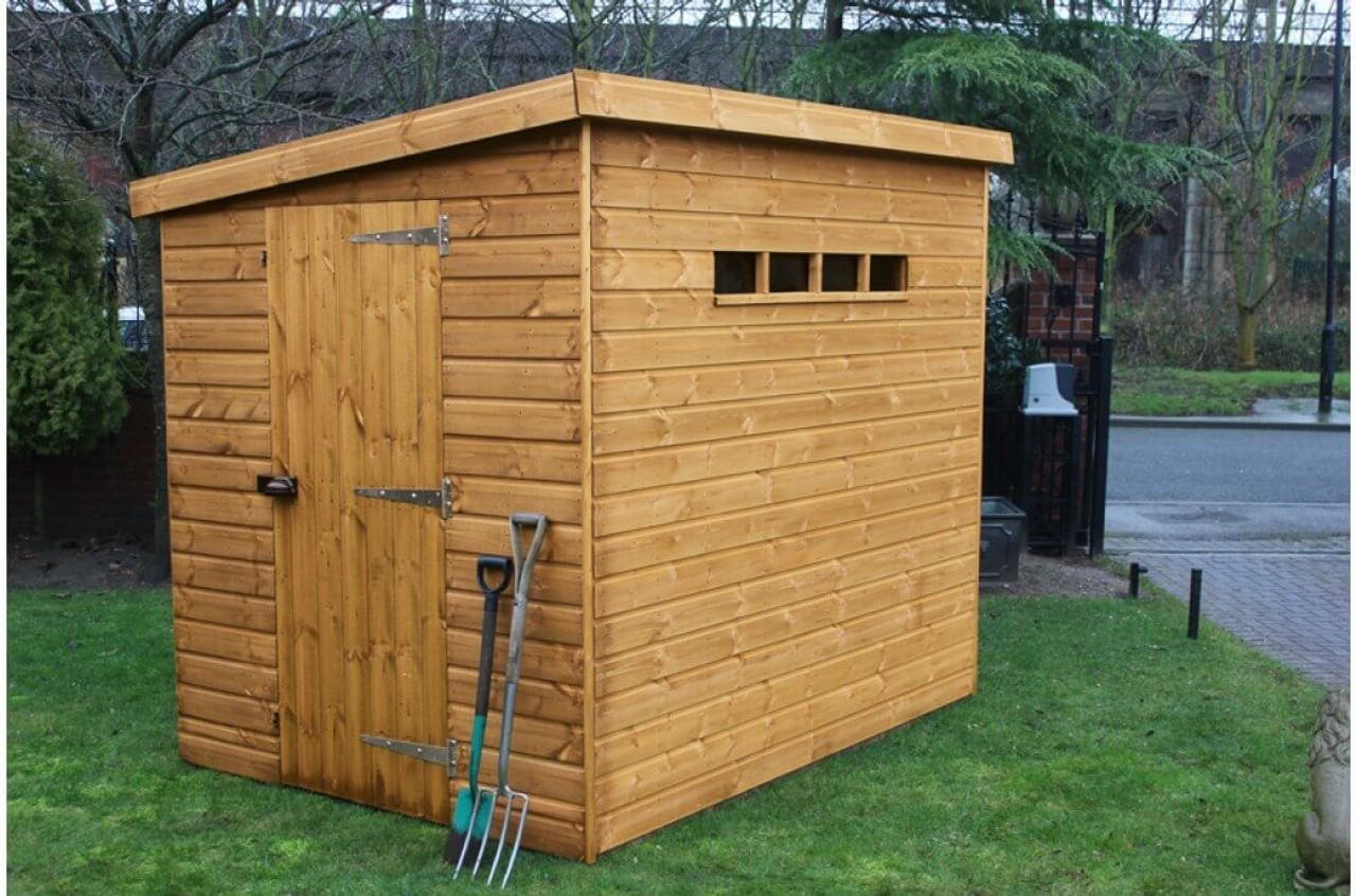 shedlands security pent shed