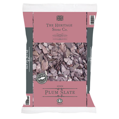 Heritage Stone Plum Slate decorative gravel