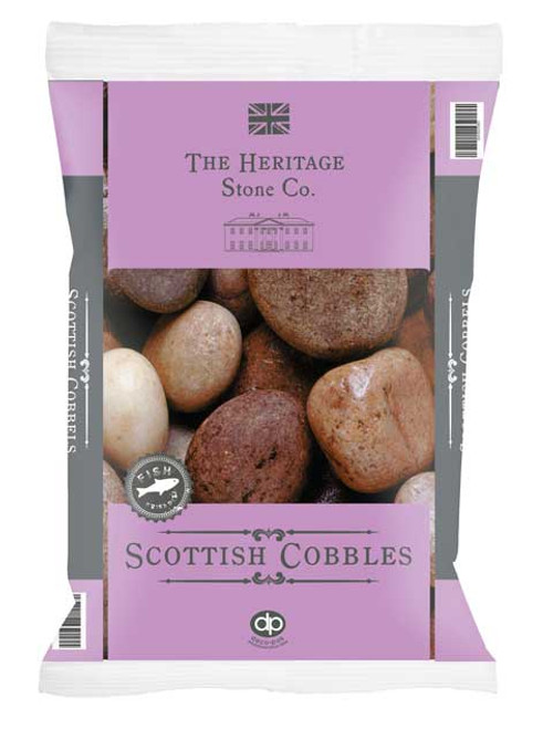 Heritage Stone Scottish Cobbles decorative gravel