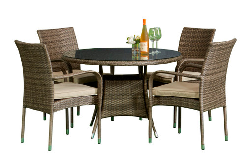 Toulouse 4 Seat Dinning Set