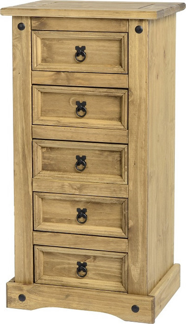 Corona 5 Drawer Narrow Chest