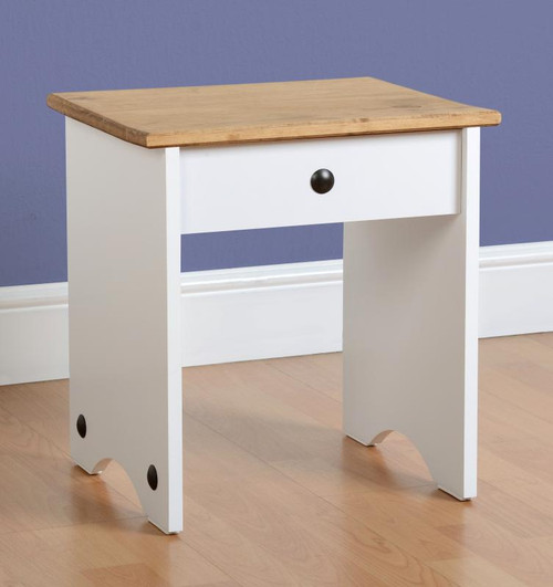 Corona Dressing Table Stool White