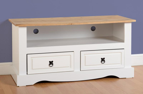 Corona TV Unit in White