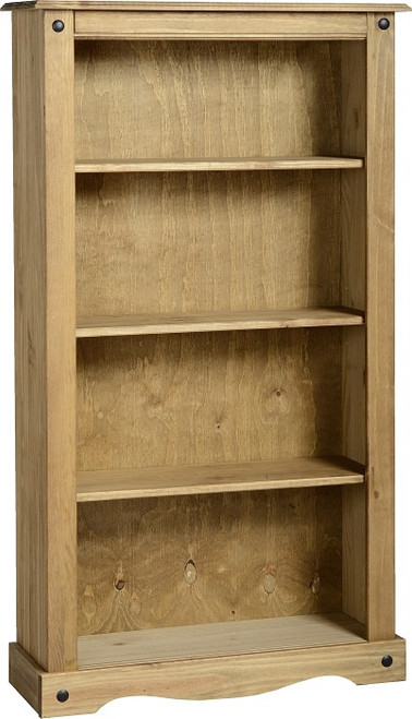 Corona Bookcase Medium in Distressed Waxed Pine