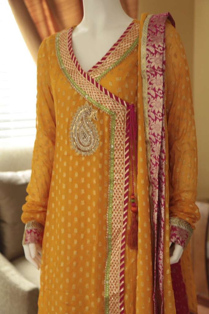 Multicolor Angrakha Yellow