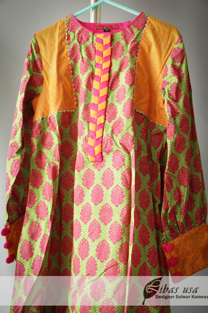 Multicolor Junaid Jumshed Girls Dress Age 8