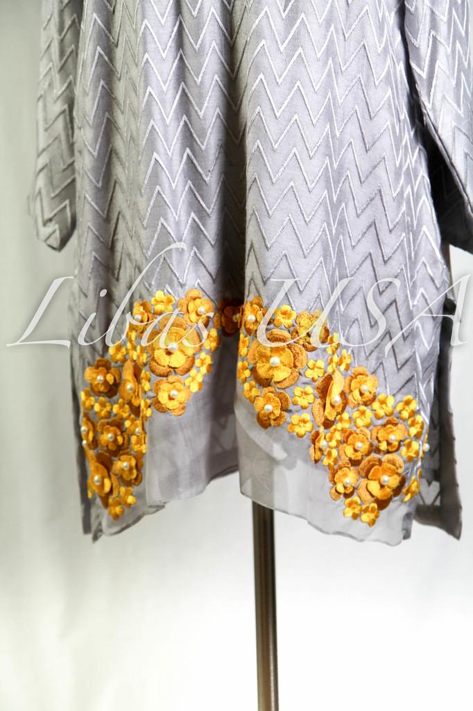Amber Gohar Embellished Shirt Golden