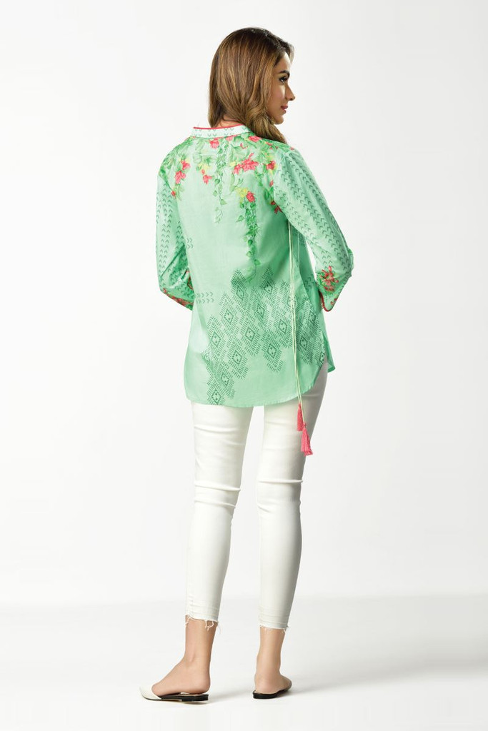 Ethnic Fusion Embroidered Shirt