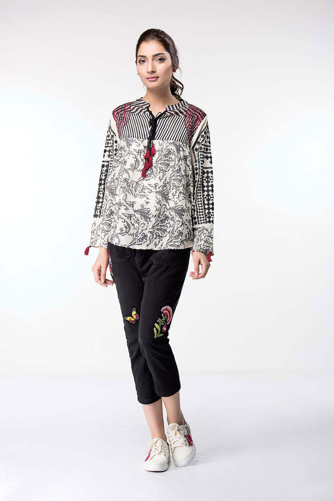 Ethnic Embroidered Fusion Top 17020