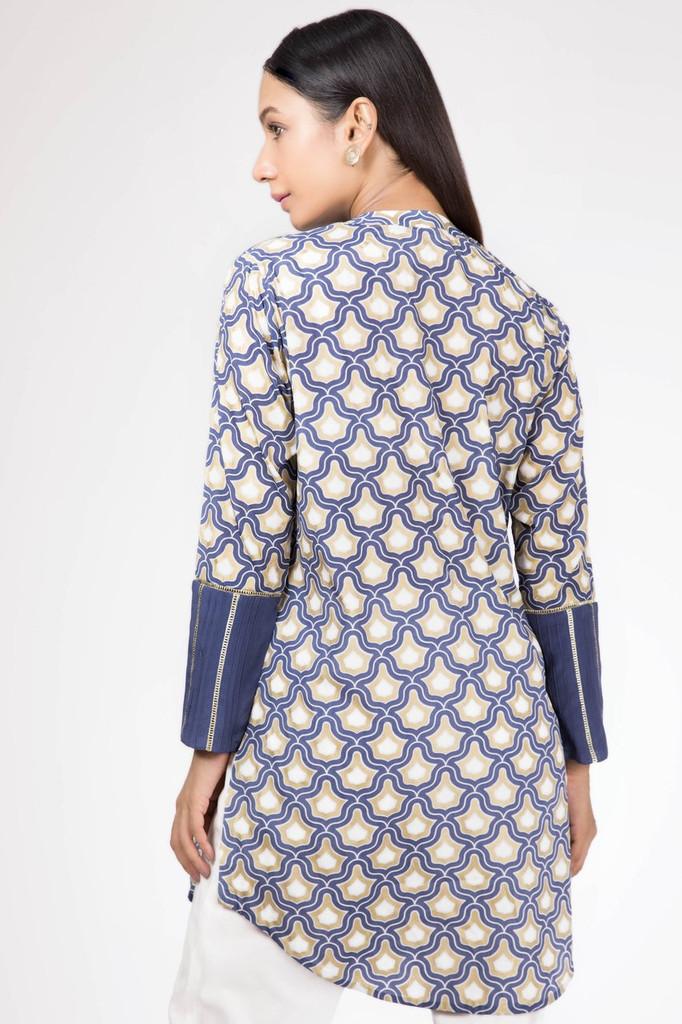 Sapphire Printed Lawn Shirt